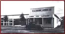 Wyoming State History - Town Lumber Co. - Today's postoffice.