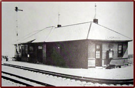 Wyoming State History - Union Pacific Railroad depot built 1928